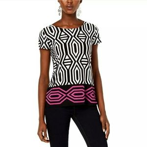 INC International Concepts geometric tie back top